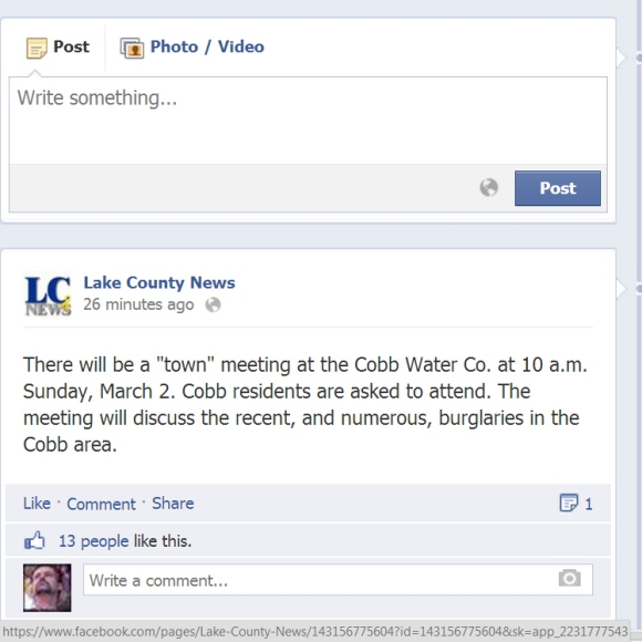 Facebook cobb meetng